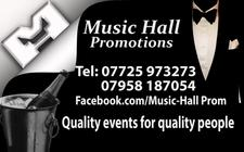 MUSIC HALL PROMOTIONS & MH GRAPHICS logo