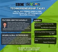IBM-DevCon Techpreneurship Talks at De La Salle...