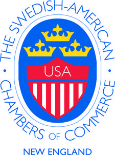 The Swedish American Chamber of Commerce of New England logo