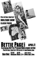 BETTIE PAGE TRIBUTE & PIN UP CONTEST!
