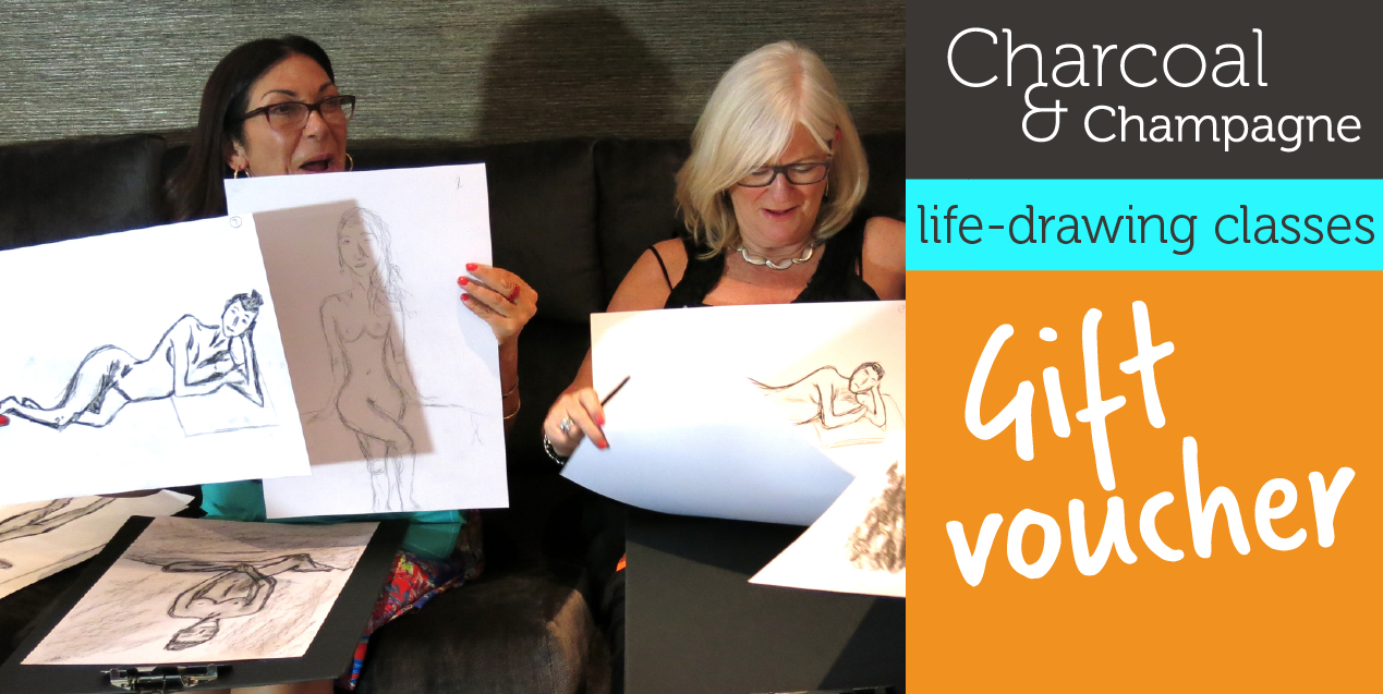 GIFT VOUCHERS – Charcoal and Champagne life-drawing classes