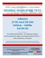 Taller para candidatos a internados: GENERAL KNOWLEDGE...