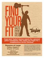 Taylor Guitars 'Find Your Fit' Event