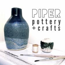 piper pottery + crafts logo