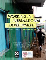 Working in International Development (brought to you...