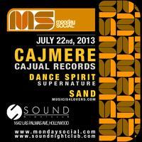 Cajmere aka Green Velvet Monday 7/22 at Sound FREE...