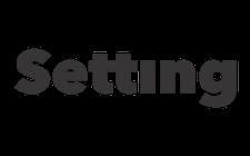 Setting logo