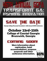 45 Annual GCPA Conference-Transform Georgia: Inspiring...