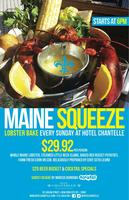 """Maine Squeeze"" LOBSTER BAKE @ Hotel Chantelle Rooftop"
