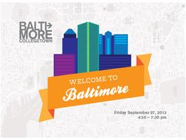 Welcome to Baltimore 2013