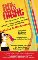 80's night dance fundraiser for Susan G. Komen - RSVP...