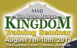 Kingdom Training Seminar w/Dr Myles Munroe ORLANDO...