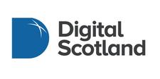 Hosted by, Digital Scotland logo