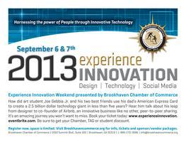 2013 Experience Innovation (Social Network, Social...