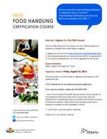 Wait List: Free Food Handler Training (AUG 29 & 30,...