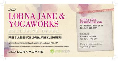 Lorna Jane + YogaWorks - FASHION ISLAND