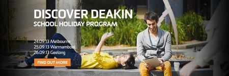 Discover Deakin - School holiday program