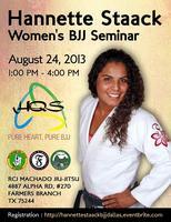 Hannette Staack Women's BJJ Seminar