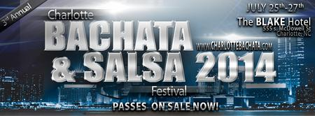3nd ANNUAL CHARLOTTE BACHATA & SALSA FESTIVAL