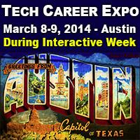 Tech Career Expo Exhibit Table - at the same time as...