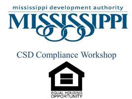 CSD Compliance Workshop (Jackson, MS) - CLOSED