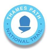 The Ramblers leading - A series of walks along THE THAMES PATH NATIONAL TRAIL  logo