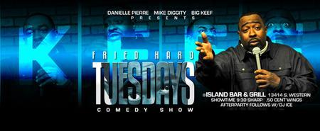 T RAY SANDERS AND COMEDIAN BUCKWILD AT FRIED HARD TUESDAYS
