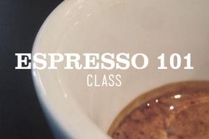 ESPRESSO 101 CLASS 5pm  Friday