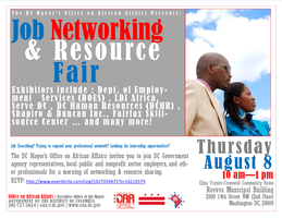 Job Networking & Resource Fair