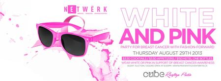PINK & WHITE Rooftop Patio Charity Event!