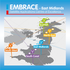East Midlands Satellite Applications Centre of Excellence - EMBRACE logo