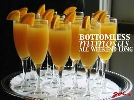 $14 Bottomless Mimosas ALL WEEKEND LONG for Brunch!