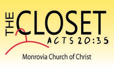 The Closet Ministry at Monrovia Church of Christ Madison logo