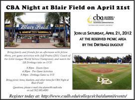 CBA Night at Blair Field - Pre-Game Picnic and...