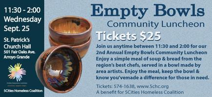 2nd Annual 5Cities Homeless Coalition Empty Bowls...