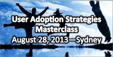 User Adoption Strategies Masterclass in Sydney on...