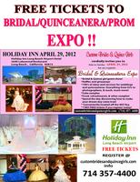 FREE TICKETS TO BRIDAL/ QUINCEANERA/ PROM EXPO FIND...