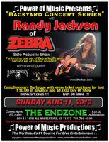 Backyard Concert Series W/: Randy Jackson Of Zebra,...