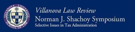 Villanova Law Review Norman J. Shachoy Symposium