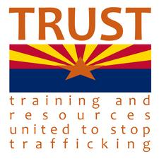 Training and Resources United to Stop Trafficking (TRUST), a program of the Arizona Anti-Trafficking Network logo