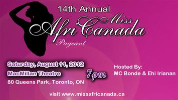 14th Annual Miss AfriCanada Pageant