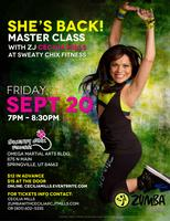 Zumba® Fitness Master Class with Zumba® Jammer Cecilia...