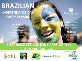 BRAZILIAN INDEPENDENCE DAY PARTY IN PARIS
