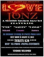 LOVE JONZ SPOKEN JAZZ PRESENTS AN EVENING OF ROMANCE...