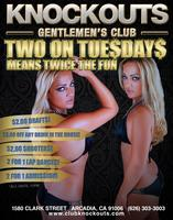 Strip Club in LA TWO ON TUE$DAY at KNOCKOUTS Gentlemen's Club in...