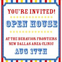 Open House - New Behavior Frontiers Clinic in Plano, TX