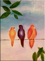 Birds on a Wire Painting Soiree
