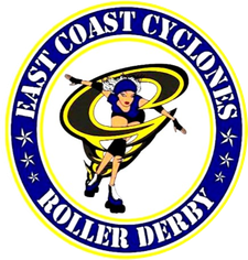East Coast Cyclones Roller Derby logo