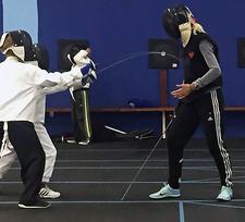 The Marin Fencing Academy logo