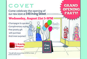 Covet Boutique Grand Opening Party- Inner Sunset